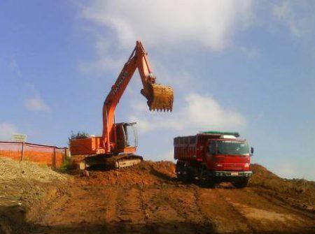 Locação de escavadeiras e tratores